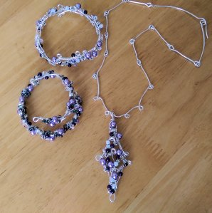 Lavender necklace and bangles