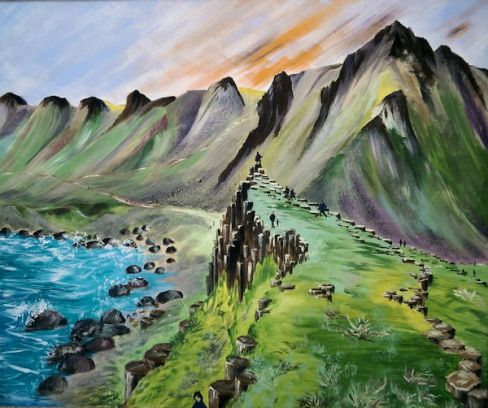 Giant's Causeway, 2017 (Acrylics on Canvas)