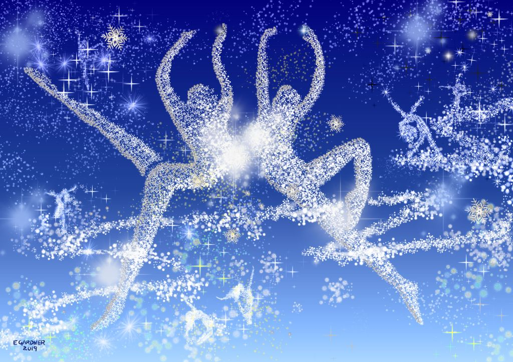 Dance of the Snowflakes, 2019 (Digital Art)