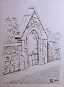 The College Archway, 2019 (Pencil)