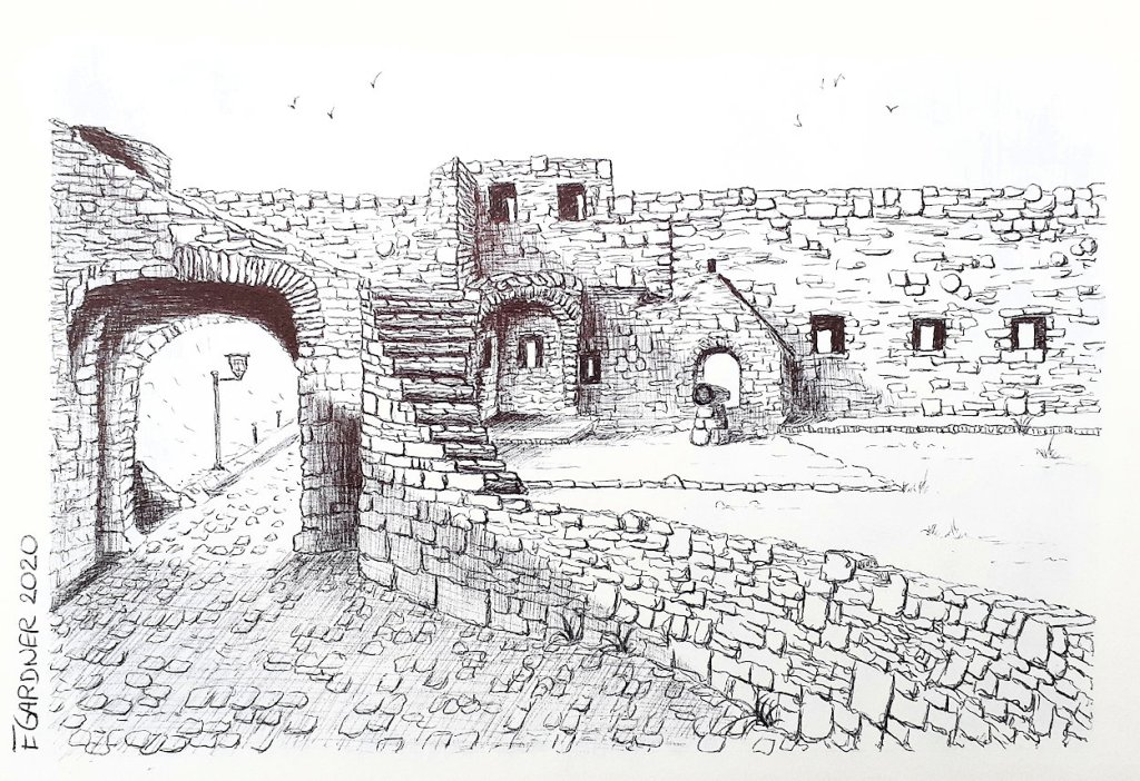 The Castle Walls, 2020 (Biro Pen)